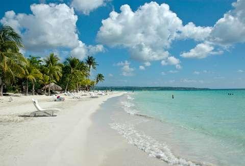 Paisajes playeros en Jamaica