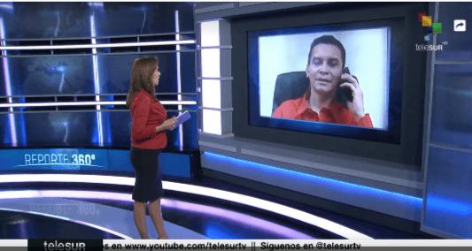 Reinaldo Bolívar en entrevista a telesur
