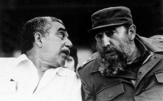 Gabriel García Marquéz y Fidel Castro
