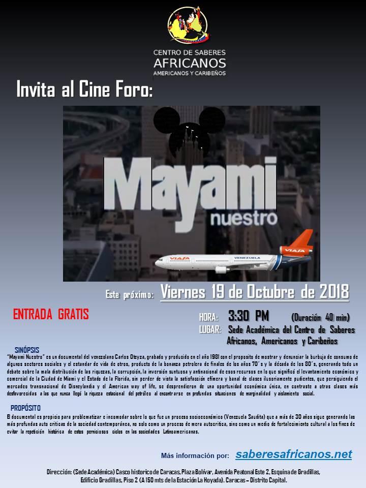 CineFORO 19 08 18 MayamiNuestro