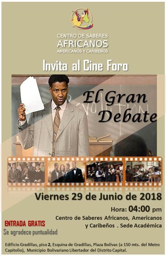 Flyer Película EL Gran Debate