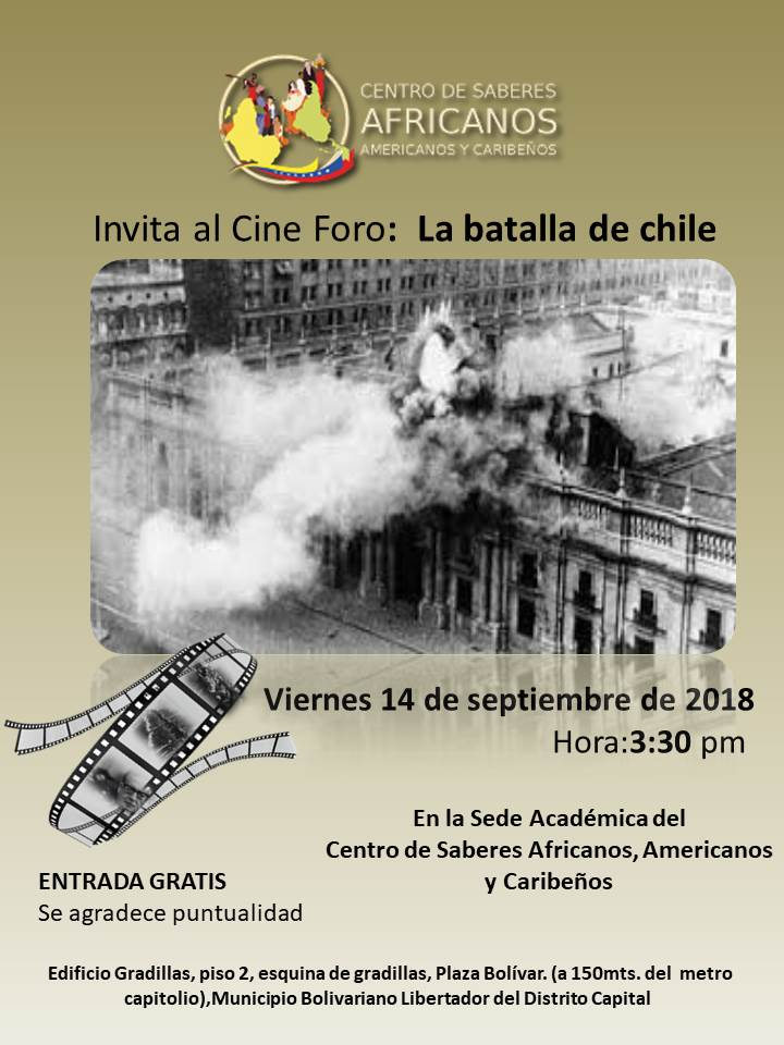 Flyer la batalla de chile