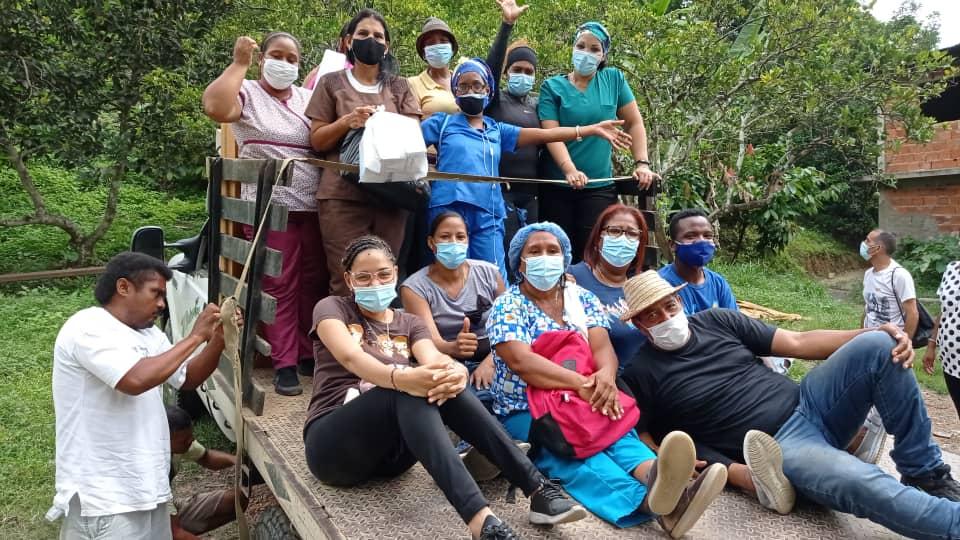 El equipo de Afroamiga realiza jornadas en los pueblos más retirados de la parroquia Curiepe