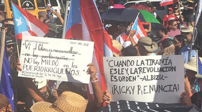 Puertorriqueños exigen dimisión de Rosselló