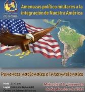 19 y 20 de septiembre: Debatirán sobre las amenazas político militares a la integración de nuestra américa
