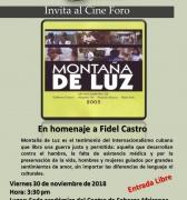 En homenaje a Fidel Castro El cine-foro del Centro de Saberes presenta