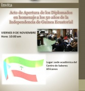 Clase Inaugural de Nuestros Diplomados en Homenaje a la Independencia de Guinea Ecuatorial