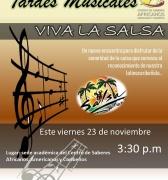 Continuan las Tardes Musicales en el Centro de Saberes Africanos. Viva la Salsa