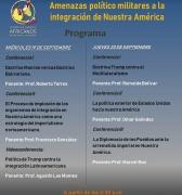 Programación del Coloquio Internacional: Amenazas Político Militares a la Integración de Nuestra América