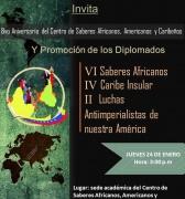 8vo Aniversario del Centro de Saberes Africanos, Americanos y Caribeños