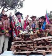 Ritual andino en Bolivia por Año Internacional de Lenguas Indígenas