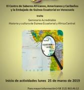 Seminario sobre África Central inicia el 25 de marzo
