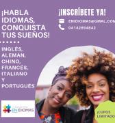 Habla Inglés, Francés, Italiano, Chino Mandarín, Portugués. Aprende en el Centro de Saberes