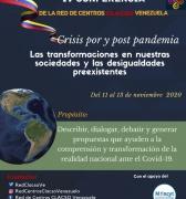 IV Conferencia CLACSO Venezuela Crisis por y post pandemia: del 11 al 13 de noviembre (Programación)