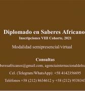 Diplomado en Saberes Africanos.  Inscripciones VIII Cohorte, 2021