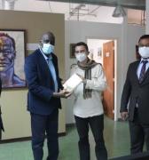 Embajador designado de Mauritania ante Venezuela visita Centro de Saberes Africanos, Americanos y Caribeños