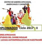 Continuan abiertas inscripciones en Diplomados: Saberes Africanos, Caribe Insular y Luchas Antiimperialistas. Período Académico 2017-II