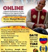 Manuel Moreno del Grupo Herencia en un encuentro online con los niños y niñas de Barbados: Miércoles 09 de sep, 2:00 PM