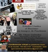 Estados Unidos Racismo en tiempos de Pandemia: Video Conferencia, 15 de junio de 2020, a las 15:00 Horas Venezuela