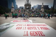 Damnificados por sismo protestan en Ciudad de México